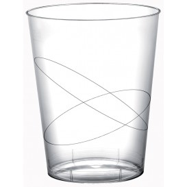 Copo Plastico Moon Cristal Transparente PS 320ml (20 Uds)