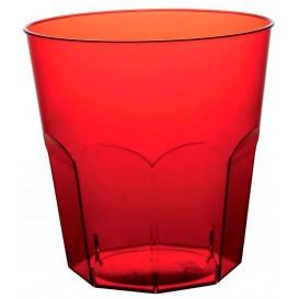 Copo Plastico Vermelho Transp. PS  Ø73mm 220ml (50 Uds)