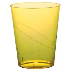 Copo Plastico Moon Cristal Amarelo Transp. PS 350ml (20 Uds)
