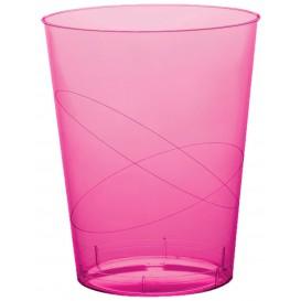 Copo Plastico Cristal Fucsia Transp. PS 200ml (500Uds)