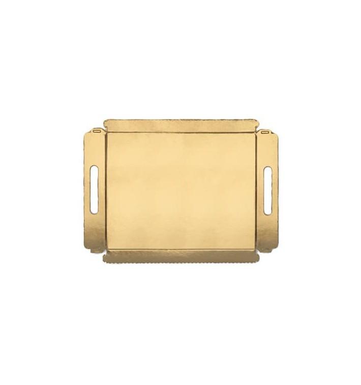 Bandeja Cartão com Asas Ouro 16x23cm (5 Unidades)