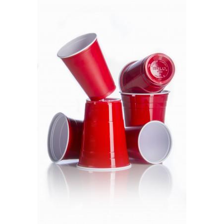 Copo Rígido de PS 16 Oz/470 ml Vermelho (50 Unidades)