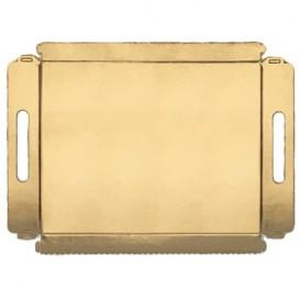 Bandeja Cartão com Asas Ouro 12x19cm (100 Unidades)