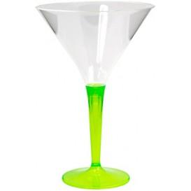Copo Plastico Cocktail Pé Verde 100ml (6 Uds)