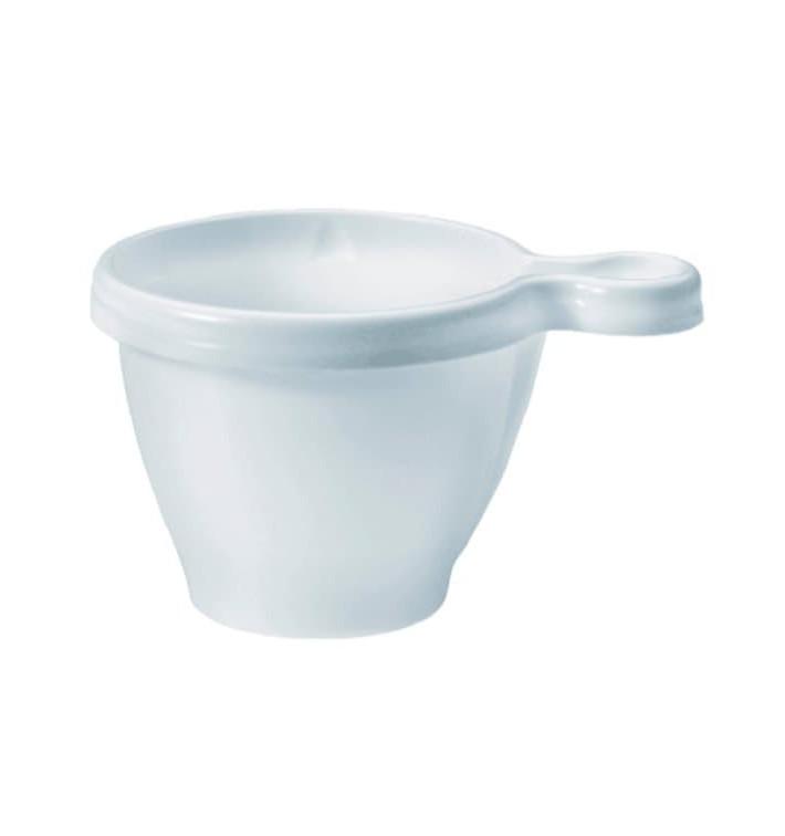 Chavena de Plastico 80 ml PS Branco (50 Unidades)
