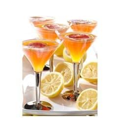 Copo Plastico Cocktail Pé Prata 100ml (48 Uds)