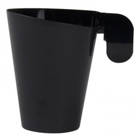 Chavena Plastico Design Preto 155ml (12 Uds)