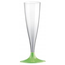 Copo PS Flute Champanhe Verde Limão 140ml (400 Uds)