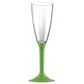 Copo PS Flute Champanhe Verde Limão120ml 2P (200 Uds)