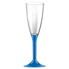 Copo PS Flute Champanhe Azul Transp. 120ml 2P (20 Uds)