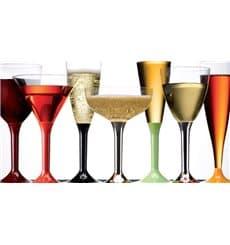 Copo Plastico Vinho Pé Framboesa 130 ml (6 Unidades)
