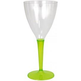 Copo Plastico Vinho Pé Verde 130 ml (6 Uds)