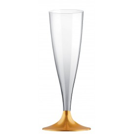Copo PS Flute Champanhe Ouro 140ml (20 Uds)