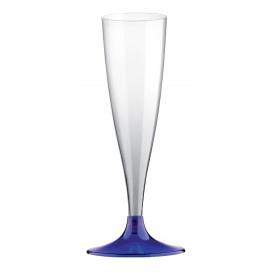 Copo PS Flute Champanhe Azul Transp. 140ml (20 Uds)