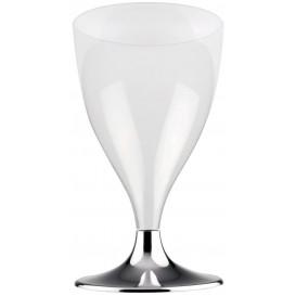 Copo PS Flute Vinho Prata Cromo 200ml (20 Uds)