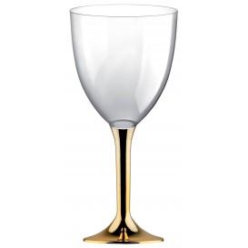Copo PS Flute Vinho Ouro Cromo 300ml 2P (200 Uds)