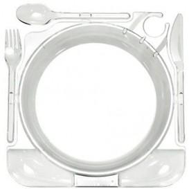 Prato Plástico Caterplate Transparente (12 Uds)