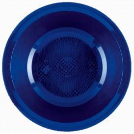 Prato de Plastico Fundo Azul Round PP Ø195mm (600 Uds)