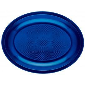 Bandeja de Plastico Oval Azul Round PP 255x190mm (600 Uds)