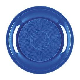 Prato Plastico Azul Mediterraneo Round PP Ø185mm (600 Uds)