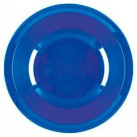 Prato de Plastico Fundo Azul Mediterraneo Round PP Ø195mm (600 Uds)