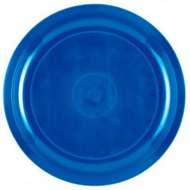 Prato de Plastico Azul Mediterraneo Round PP Ø290mm (300 Uds)