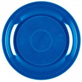 Prato Plastico Raso Azul Mediterraneo Round PP Ø220mm (50 Uds)