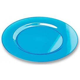 Prato Plástico Rigido Redondo Turquesa 23cm (6 Uds)