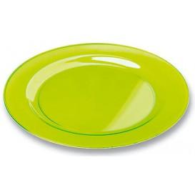 Prato Plástico Rigido Redondo Verde 23cm (90 Uds)