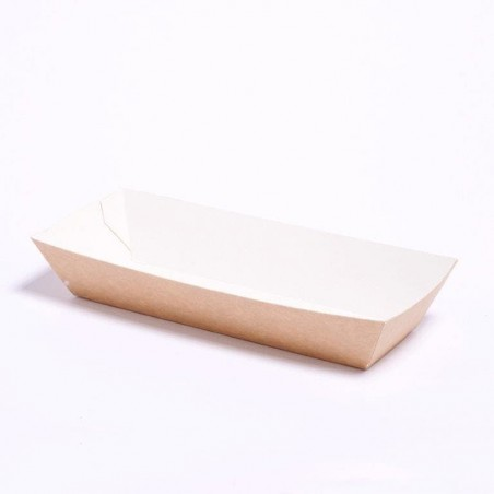 Barqueta Kraft Hot Dog  17x5,5x3,8cm (25 Unidades)