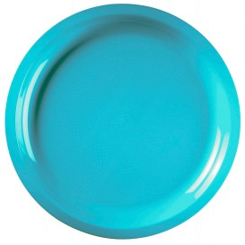 Prato de Plastico Turquesa Round PP Ø290mm (25 Uds)