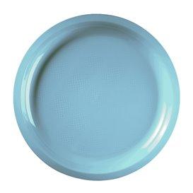 Prato de Plastico Turquesa Round PP Ø290mm (300 Uds)