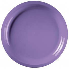 Prato de Plastico Lilás Round PP Ø290mm (300 Uds)