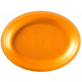 Bandeja de Plastico Oval Ouro Round PP 255x190mm (125 Uds)