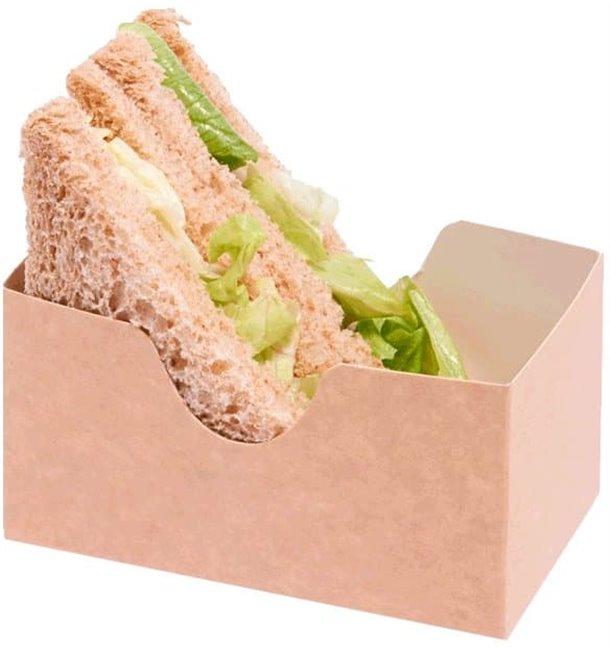 Embalagem Cartao Sanduíche Kraft (25 Uds)