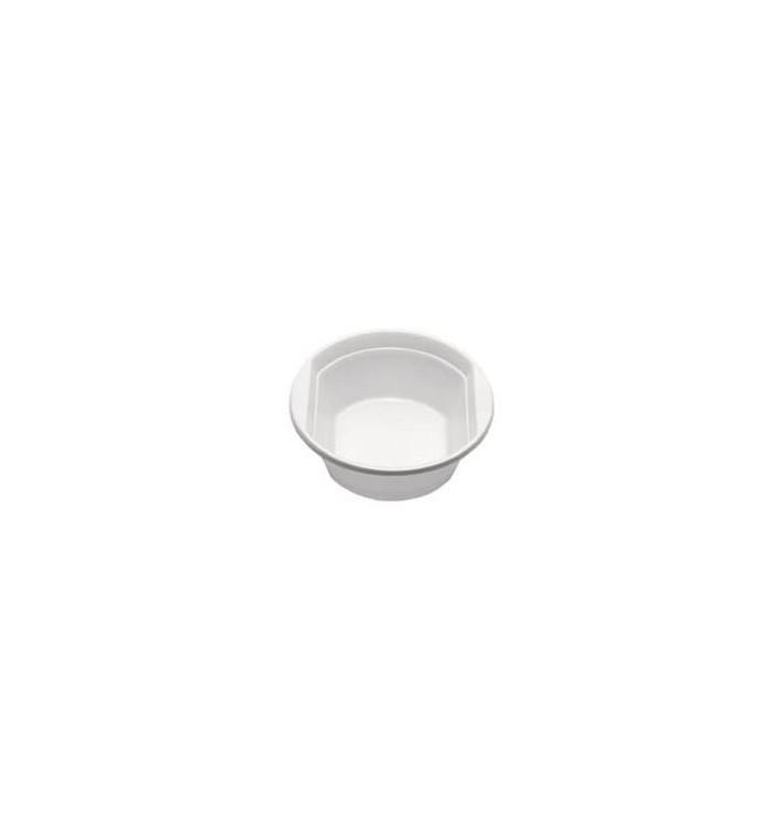 Tigela de Plástico PS Branco 250ml (100 Unidades)