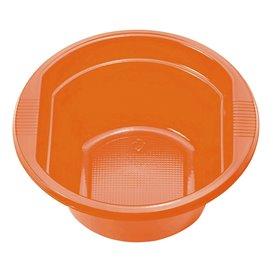 Tigela de Plastico PS laranja 250ml Ø12cm (30 Uds)