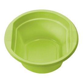 Tigela de Plastico PS Verde Limão 250ml Ø12cm (30 Uds)