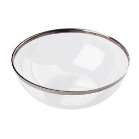 Tigela Plastico Rigido Bordo Prata 1500ml (40 Uds)