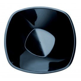 Tigela de Plastico Preto Square PP Ø210mm 1250ml (60 Uds)