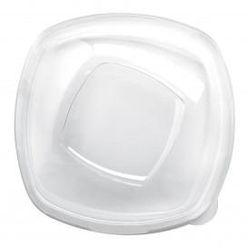 Tampa Plastico Transp. para Tigela Square PET 210mm (60 Uds)