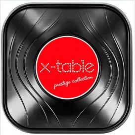 "Tigela Plastico PP ""X-Table"" Quadrada Preto 180x180mm (8 Uds)"