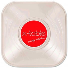 "Tigela Plastico PP ""X-Table"" Quadrada Pérola 180x180mm (120 Uds)"