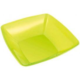 Tigela de Plastico Quadrada Verde 28x28cm (20 Uds)