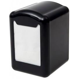 Dispensador Guardanapos Plastico Preto Miniservis 17x17 (1 Ud)