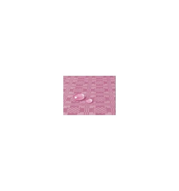 Toalha Papel Plastificado Rolo Rosa 1,2x5m (10 Uds)