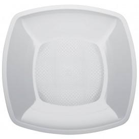 Prato Plastico Liso Branco 180mm (150 Uds)