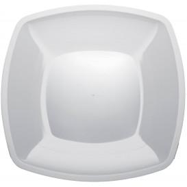 Prato Plastico Raso Branco PS 300mm (72 Uds)