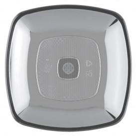 Prato Plastico Raso Transparente Square PS 180mm (25 Uds)
