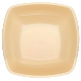 Prato Plastico Fundo Creme Square PP 180mm (25 Uds)